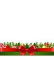 xmas garland white background vector image vector image