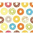 Donut Set Background Pattern vector image