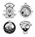 Eagle Monochrome Emblems Set vector image