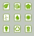 Ecological icon sticks vector image