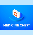 medicine chest isometric icon isolated on color vector image