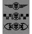 Set of dark skulls vector image