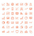 49 graph icons vector image vector image