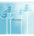 Abstract Christmas card with snowy trees vector image vector image