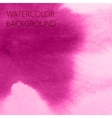 abstract pink watercolor background for your vector image vector image