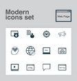 advertising icons set collection of web page vector image