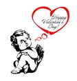 angel or cupid isolated vector image vector image