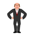 angry businessman aggressive boss evil manager vector image vector image