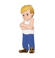 angry little bully boy face vector image vector image