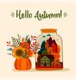 autumn cute design for card vector image
