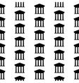 Bank symbol seamless pattern vector image