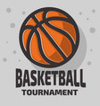basketball themed logo emblem design with vector image vector image