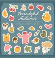 beautiful autumn design elements vector image vector image
