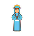blessed holy virgin mary christmas celebration vector image vector image