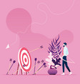 businessman missed hitting target mark vector image vector image