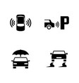 car safety simple related icons vector image vector image