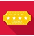 Cinema emblem icon flat style vector image