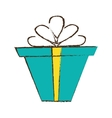 color gift box ribbon package decor sketch vector image vector image