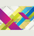 colorful geometric minimal abstract background vector image vector image