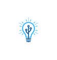 digital idea logo icon design vector image