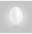 Easter white eeg vector image vector image