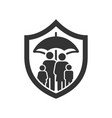 family life insurance icon image vector image vector image