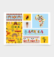flat african native elements composition vector image