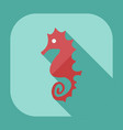 flat modern design with shadow icons seahorses vector image vector image