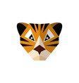 flat style icon tiger on a white background vector image