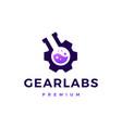 gear lab labs logo icon vector image vector image