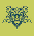 goat head design style vintage vector image vector image