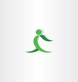 Green man exercise logo icon