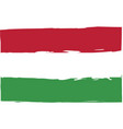 grunge hungary flag or banner vector image vector image