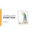 handyman service landing page template home vector image vector image