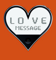 Heart shaped telephone vector image vector image