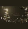 iluminated christmas tree with glitter stars vector image vector image