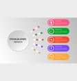 infographic paper element white button colorful vector image