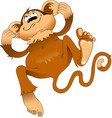 jumping monkey vector image