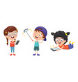 kids using mobile devices vector image vector image