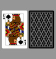 king of spades playing card and the backside vector image vector image