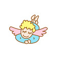little flying angel vector image