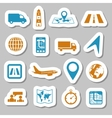 logistic stickers vector image vector image