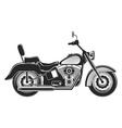 motorcycle silhouette illustration vector image
