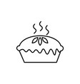 pie icon vector image vector image