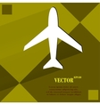 Plane Flat modern web design on a flat geometric vector image vector image