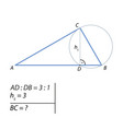 problem of finding the leg of a right triangle-01 vector image vector image