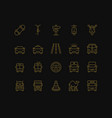 road transport icons vector image
