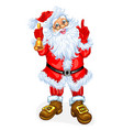 santa claus with a bell vector image