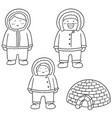 set of eskimo vector image