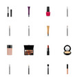 set of maquillage realistic symbols with fashion vector image vector image